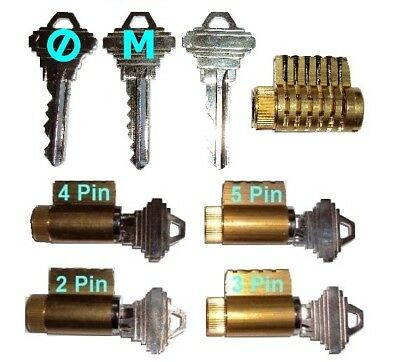 Cutaway Practice Lock Set of 5-LocksmithTraining/Apprentice Master Keyed Cutaway