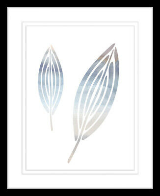 NEW Natural Feathers One of Five Watercolour Silhouette Print