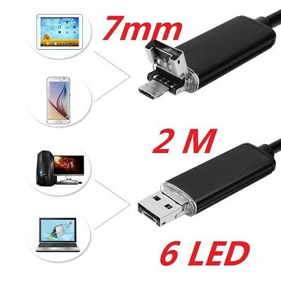 6 LED Waterproof67 1M 7mm Lens Endoscope Inspection Camera For PC Android Phone