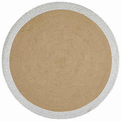 NEW Milano Metallic Silver and Natural Jute Rug - Network,Rugs