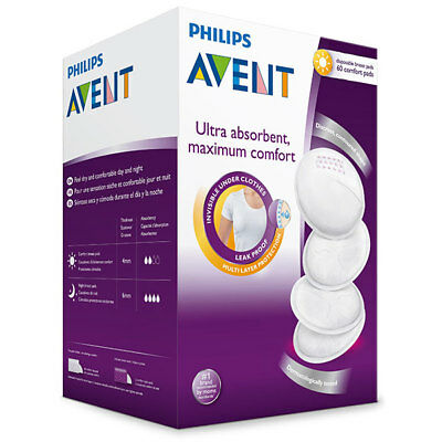 Philips Avent 60 Disposable Breast Pads For Day Use Comfortable And Discreet