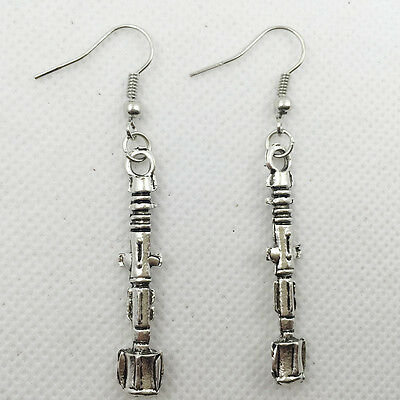 New 1 pair Free shipping Fashion Antique silver Jewelry  Screwdriver  earring @