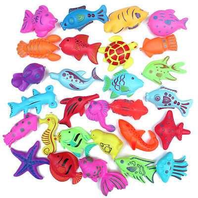 10pc 6-9 CM Plastic Magnetic Floating Fish Toy Outdoor Funny Fish Tool for Kid