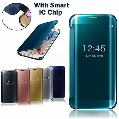 MIRROR CASE CLEAR VIEW COVER WALLET WITH BUILT IN CHIP SAMSUNG GALAXY Note 8/ 9