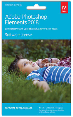 New New Adobe - Photoshop Elements 2018 - Digital Download