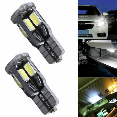 2X T10 W5W Canbus 10 SMD LED 5630 5730 Car Auto Width Lamp License Plate Light
