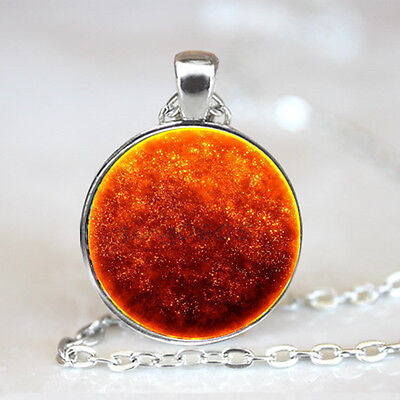 Flame Nebula photo Glass Dome Tibet silver Chain Pendant Necklace,Wholesale
