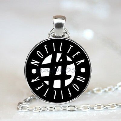 #nofilter Photo Glass Dome Tibet silver Chain Pendant Necklace,Wholesale