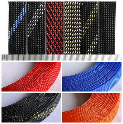 11 Colours 3mm-40mm Braided Cable Sleeving/Auto Wire Harnessing/Sheathing PET