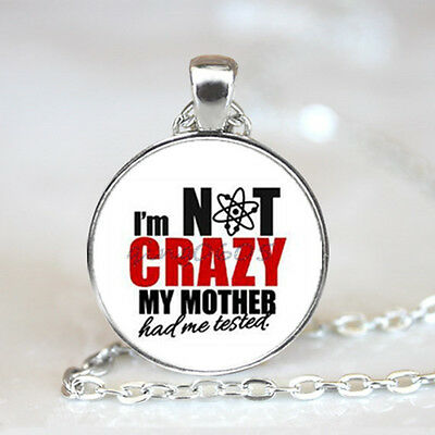 I'm nerds crazy photo Glass Dome Tibet silver Chain Pendant Necklace,Wholesale