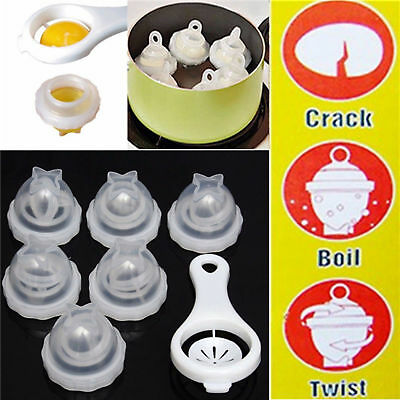 US! Egg Cooker Lettes Hard Boiled Eggs without the Shell 6 Egg Cups Soft Gift