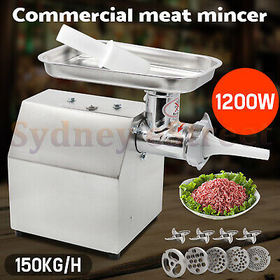 1.63HP Commercial Meat Grinder Electric Mincer Sausage Filler Maker 150 Kg/H AUS