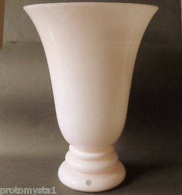 "▇ 38Cm-15""-Large Opaline 2 Layer Pink & Milk Glass Table Lamp-French Art Deco"