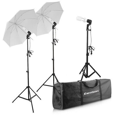 Photography Photo Studio 600W Umbrella Continuous Lighting Kit Light Stand