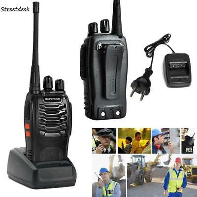 2x BaoFeng BF-888S Walkie Talkie UHF 400-470MHZ 2 Way Ham Radio 16CH Long Range