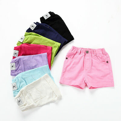Casual Infant Toddler Children Girl Boy Clothes Fashion Solid Pants Beach Shorts