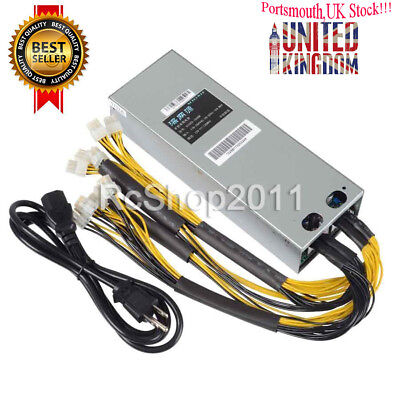 1600W BTC APW3++ PSU Mining Power Supply For Bitcoin BTC Antminer S7 S9 L3 D3 UK