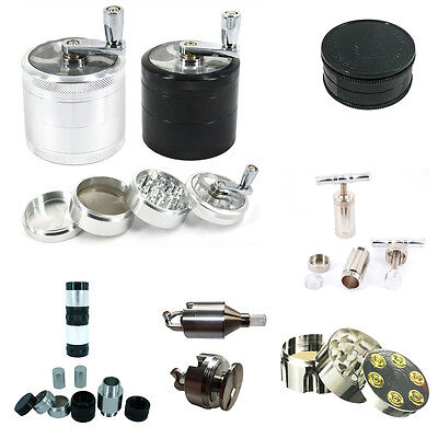 Herb Grinder  3/4/8 Part With Multiple Choice Shark Teeth Crusher Pollinator