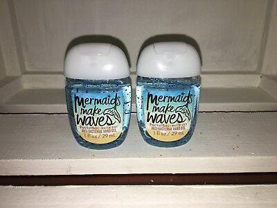 Bath & Body Works 2x Anti-Bacterial Hand Gel USA Exclusive Mermaid Makes Waves