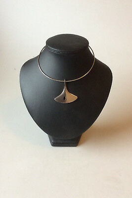Hans Hansen Sterling Silver Neckring with pendant No 323
