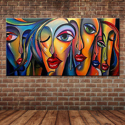 Modern Pop Art Sexy Women's Faces Oil Painting People Portrait Canvas Home Decor