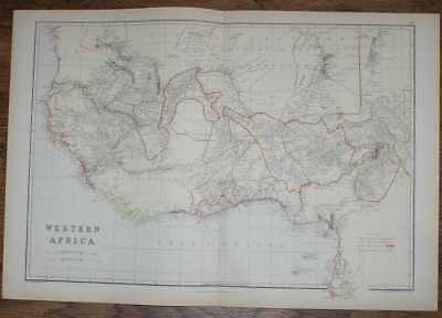 1884 Blackie's Map of Western Africa