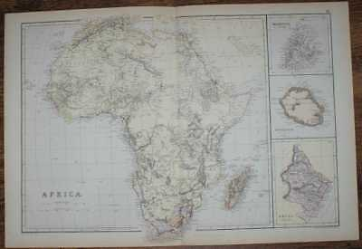 1884 Blackie's Map of Africa