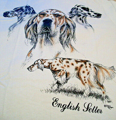 "English Setter T-shirt  "" Natural "" Small ( 34 ~ 36 )"