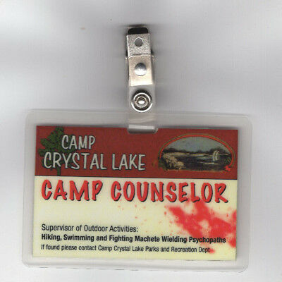 Friday The 13th ID Badge-Camp Crystal Lake Park Camp Counselor Cosplay Costume