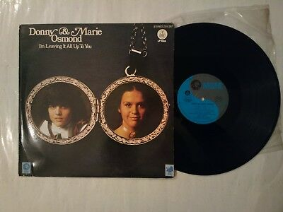 Donny & Marie OsmondI'M Leaving It All Up To You , Very Rare, Lp, Yugoslavia