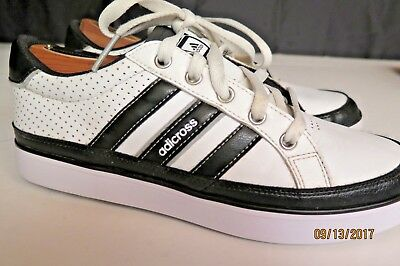 Mens adidas Adicross IV Golf Shoes Q47044 Spikeless White/Black Size 7.5 M