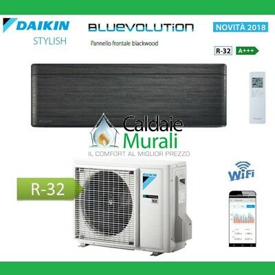 Climatizzatore Daikin Bluevolution Stylish Blackwood 9000 Btu A+++ R-32 Ftxa25At