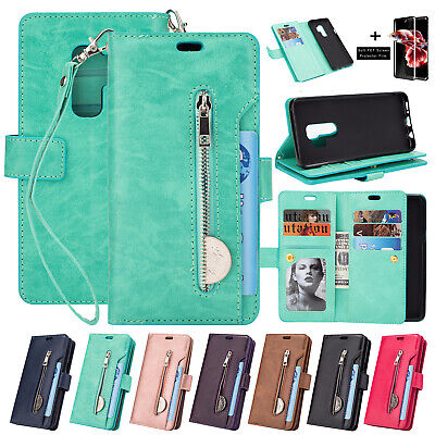 For Samsung Galaxy S9/S9+ Plus Flip Leather Wallet Stand Card Holder Case Cover
