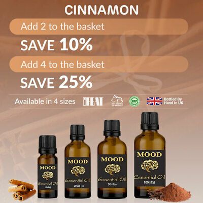 Essential Oils Cinnamon Natural Home Fragrances Aromatherapy Diffuser Oil