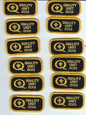 Cub Scout Boy Scouts  - 12- 2001 Quality Unit patch lot