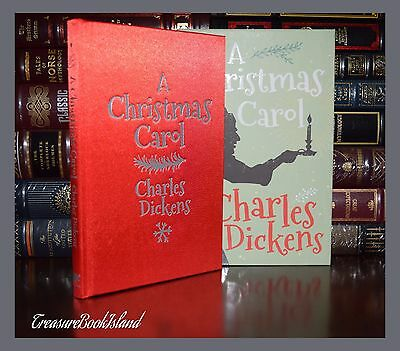 Christmas Carol by Charles Dickens Illustrated New Slipcase Silk Bound Hardcover