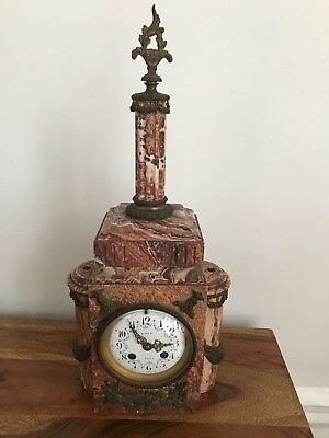 Antique French Table Clock - A.D. Mourn Deux Medailles 19''