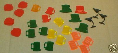 Custom Designed Plastic Drink Chips Tokens Lot of 100