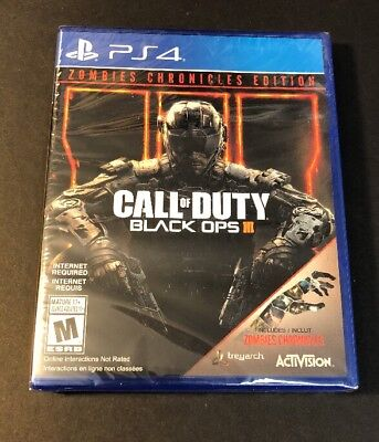 CALL OF DUTY Black Ops 3 [ Zombies Chronicles Edition ] (PS4) NEW