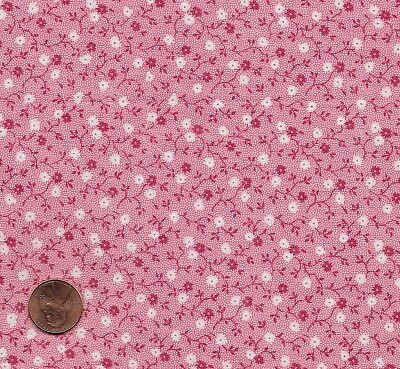 Antique 1890 Pink Calico Fabric