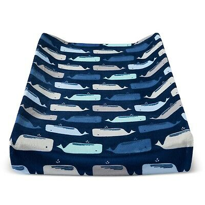 Plush Changing Pad Cover By the Sea - Cloud Island™ - Navy      A3 002
