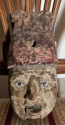 Rare Antique Possibly Burmese Or Of Asian Origin ? Puppet Head Only