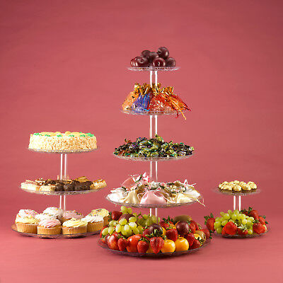 5 Tier Cupcake Stand Food Display Tower for Wedding Party or Home Use