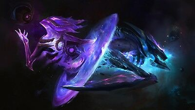Poster 42x24 cm League Of Legends Khazix Orianna Estrella Oscura / Dark Star