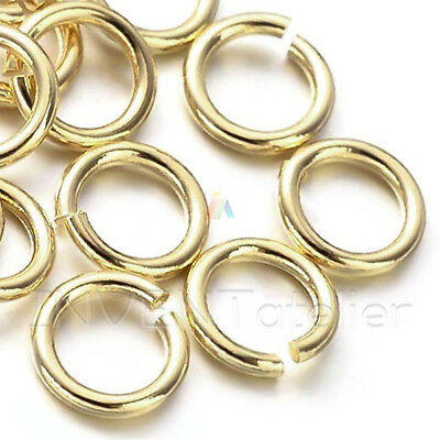 200 STRONG OPEN JUMP RINGS 4, 5, 6mm Gold Plated  Jewellery Making Findings