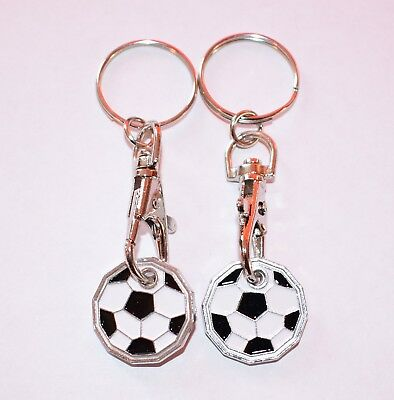 High Quality £3 Pound Coin 2 Pack Football Shopping Trolley KeyRing