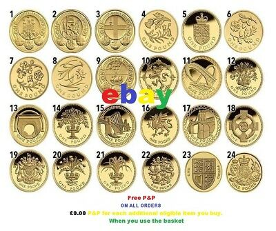 RARE £1 One Pound Coins 1983-2018 NEW 1999 BU Capital SET  EDINBURGH CARDIFF
