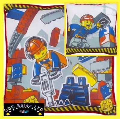 Official Lego City Demolition Construction Reversible Cushion