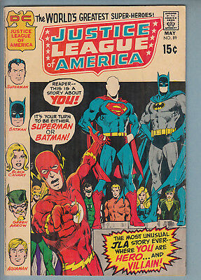 Justice League of America 89 (May 1971) DC Comic VG+ 53% off guide