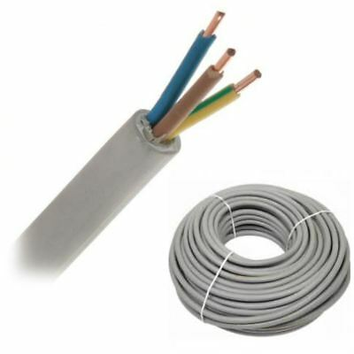 Electrical Cable 2/3/4 SOLID Core Twin & Earth Round Mains Wire 1/1.5/2.5 mm²
